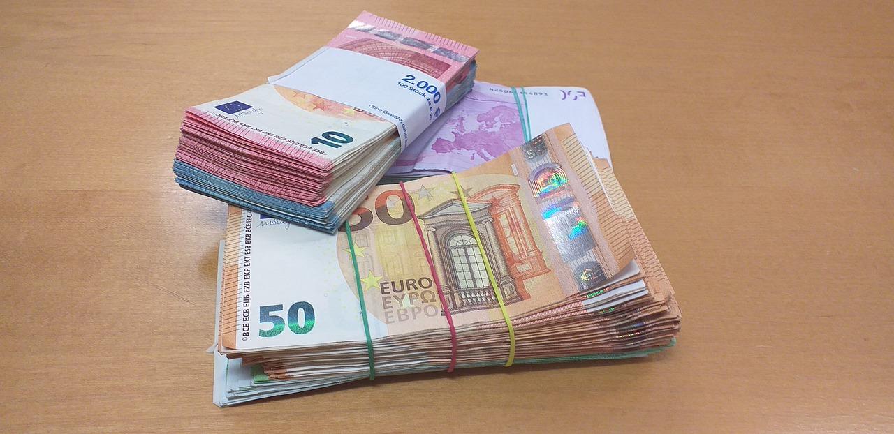 balíčky eurobankovek