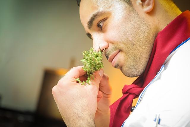 šéfkuchař a bylinky