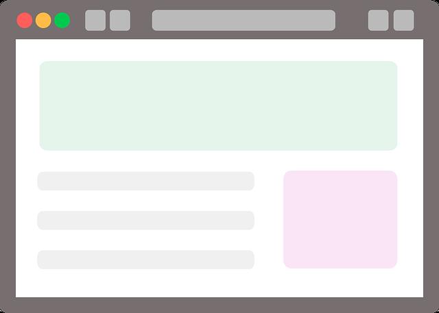 šablona webu