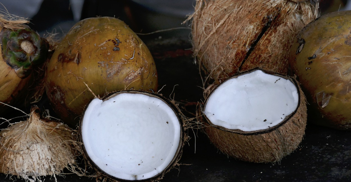 otevřený kokos
